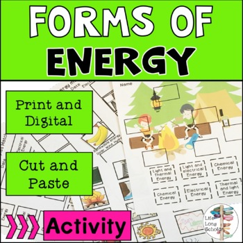 Forms of Energy Cut and Paste Activity