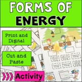 Forms of Energy Cut and Paste Activities