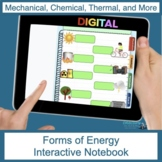 Forms of Energy Digital Interactive Notebook