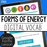 Forms of Energy Digital Vocabulary | Distance Learning