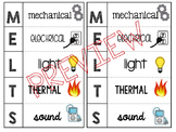 Forms of Energy Foldable (M.E.L.T.S.) **Spanish and Englis