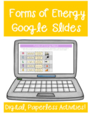 Forms of Energy Google Classroom Distance Learning