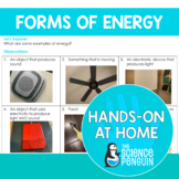Forms of Energy {Hands-on at Home} | Distance Learning
