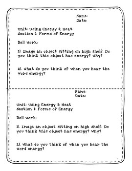 Forms of Energy Interactive Lesson