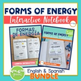 Forms of Energy Interactive Notebook English & Spanish Versions Bundle