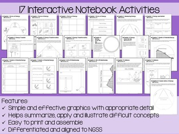 Forms of Energy Interactive Notebook Unit