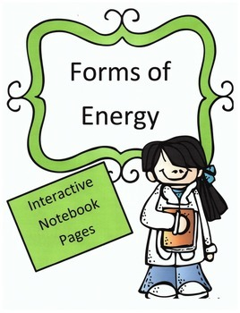 Forms of Energy Interactive Science Notebook Pages