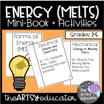 Forms of Energy (MELTS) Mini Book and Graphic Organizers