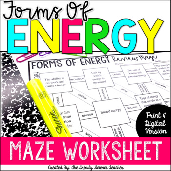 Forms of energy review worksheet teaching resources teachers pay forms of energy maze worksheet forms of energy maze worksheet fandeluxe Gallery