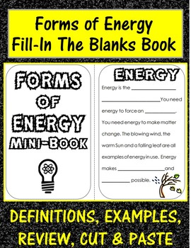 Forms of Energy Mini Book: definitions, examples, review,