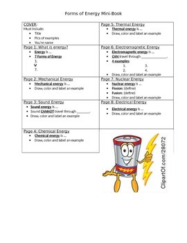 Forms of Energy Mini-Book with QR Codes