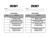 Forms of Energy Notes