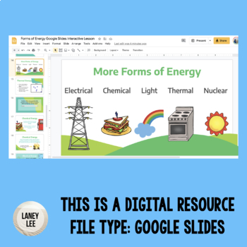 Forms of Energy PowerPoint and Students Notes Sheet