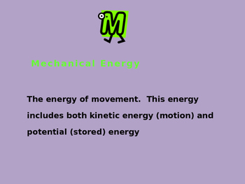 Forms of Energy Powerpoint