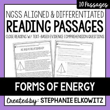 Forms of Energy Reading Passages