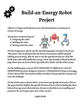 Forms of Energy Robot