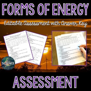 Forms of Energy - Science Assessment