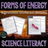 Forms of Energy - Science Literacy Article