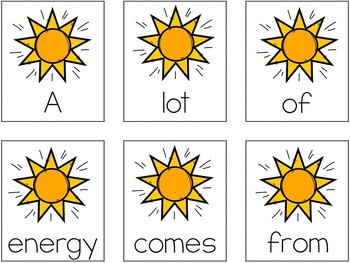 Forms of Energy Scrambled Sentences