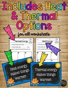 Forms of Energy Set with Heat, Light, and Sound {Grades 1, 2, & 3 }