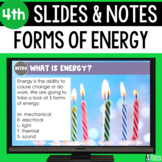 Forms of Energy Slides & Notes 4th | Bonus Distance Learning