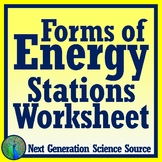 Forms of Energy Stations Worksheet (corresponds to FREE stations activity) NGSS