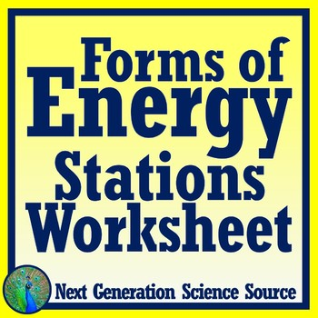Forms of Energy Stations Activity Worksheet NGSS MS-PS3-1 MS-PS3-2 MS-PS3-5