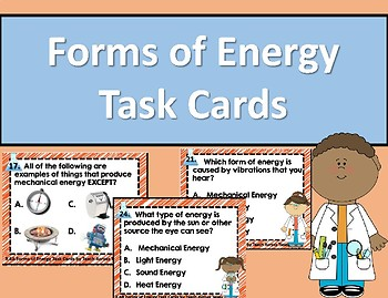 Forms of Energy Task Cards.