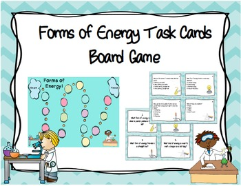 Forms of Energy Task Cards Board Game