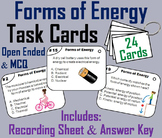 Forms of Energy Task Cards: Sound and Light, Potential and Kinetic, Thermal, etc