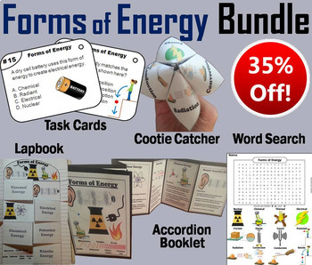 Forms of Energy Task Cards and Activities Bundle