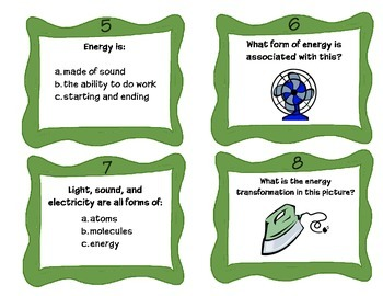 Forms of Energy Task Cards for SCOOT