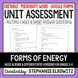 Forms of Energy Unit Exam