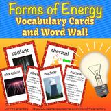 Forms of Energy Vocabulary Activities and Visuals
