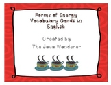 Forms of Energy Vocabulary Cards in English