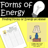 """Forms of Energy WORKSHEET """"At Home"""""""