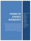 Forms of Energy Web Quest