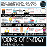 Forms of Energy Word Wall - TEKS 5.6A, 5.6B, 5.6C