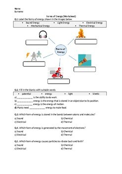 Energy Forms And Changes Simulation Worksheet Answers ...