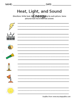 Forms Of Energy Worksheets | Teachers Pay Teachers