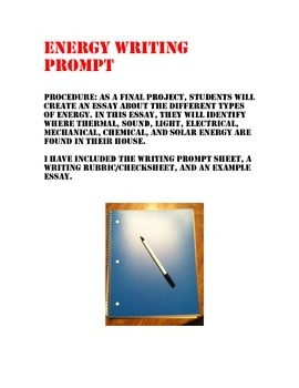 Forms of Energy Writing Prompt