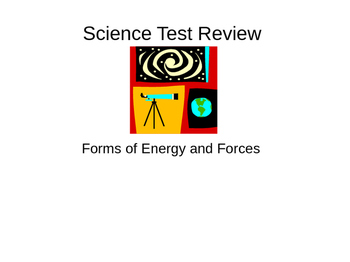 Forms of Energy and Forces Science Review