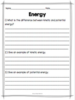 Forms of Energy {light, magnetic, electrical, heat, and sound energy}