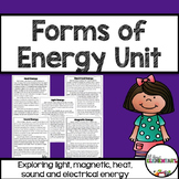 Forms of Energy {light, magnetic, electrical, heat, and so