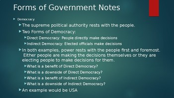 Forms of Government Slide Show