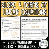 Slope and Forms of Linear Equations Lesson
