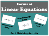 Forms of Linear Equations Matching Activity