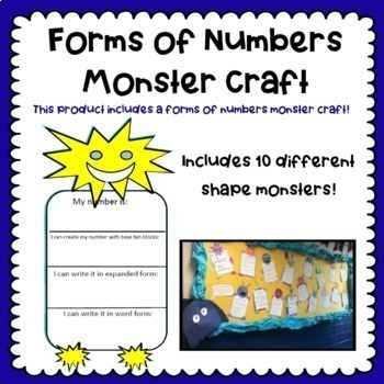Forms of Numbers Monster