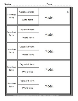 Forms of Numbers-Standard Form, Expanded Numbers, Word Form, Models