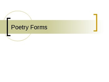 Forms of Poetry